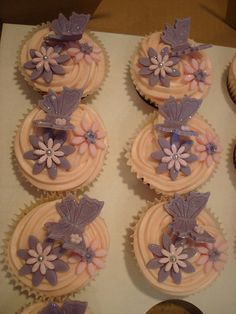 Birthday butterfly cupcakes