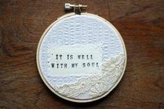 hoop art, made by @Annalea Hart . belongs on my wall.