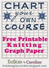 Free graph paper for knitters.