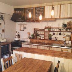 noroさんの、DIY,インスタ→chii_ne,賃貸でも楽しく♪,壁紙屋本舗,Kitchen,のお部屋写真