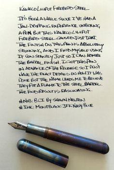 Kaweco Liliput Fireblue Fountain Pen Review — The Pen Addict