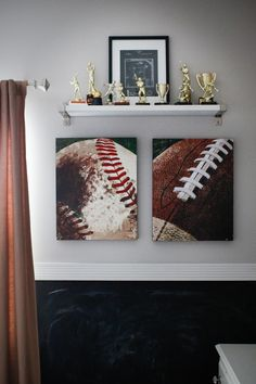 Designed For A Sports Themed Room Very Simple Shadow