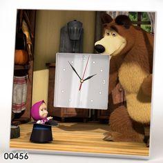 Masha and the Bear Wall CLOCK Frame Mirror TV Series Cartoon 3D Art Gift IKEA #IKEA #ArtsCraftsMissionStyle