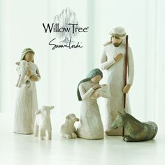 Willow Tree is a line of figurines designed by artist Susan Lordi, from DEMDACO. Every piece is done in a rustic style, and features faceless people and angels. They are intended to represent and brin