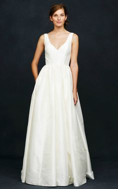 'Karlie' silk ballgown wedding dress with v-neck from J.Crew