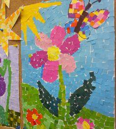 Tavasz :: Óvoda Paper Crafts For Kids, Craft Activities For Kids, Art Drawings For Kids, Art For Kids, Color Art Lessons, Kids Art Galleries, Simple Collage, Paper Collage Art, 4th Grade Art