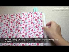 Double zip pouch with video tutorial
