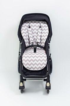 Great Stroller Liner Chevron Grey Bambella Designs