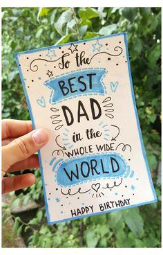 Diy Birthday Cards For Dad, 25th Birthday Gifts, Free Birthday Card, Homemade Birthday Cards, Birthday Diy, Birthday Message, Diy Cards For Dad, Dad Birthday Quotes, Happy Birthday For Dad
