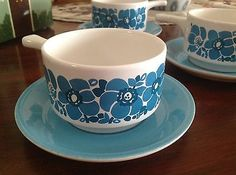 Vintage Retro Ramekins Staffordshire Potteries