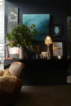 Home Decoration For Living Room My Living Room, Interior Design Living Room, Living Room Furniture, Living Room Decor, Bedroom Decor, Small Living, Dark Interiors, Colorful Interiors, House Design