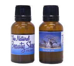 Baobab oil unrefined. Now at www.naturalbeautyshopfinland.com