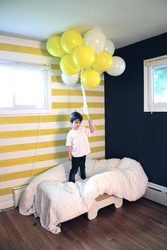 Oh my yes! striped nursery walls / toddler room