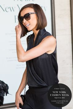New York Fashion Week | Street Style from ClearlyContacts.ca | Click to see more on our e-magazine, theLOOK