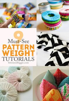 Sewing Patterns Diy 9 tutorials for pattern weights - so simple to make and helpful to use! - Let's get to the fun part of sewing faster! Use pattern weights instead of pinning! 9 tutorials to help speed you along. Sewing Hacks, Sewing Tutorials, Sewing Tips, Sewing Ideas, Pattern Weights, Costura Diy, Diy And Crafts Sewing, Diy Crafts, Sewing Rooms