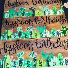 cactus sign – cactus birthday sign – classroom sign – classroom birthday sign – class birthday sign – Home living color wall treatment kitchen design Classroom Signs, Classroom Decor Themes, New Classroom, Kindergarten Classroom, Classroom Birthday Board, Classroom Ideas, Elementary Classroom Themes, Cactus Painting, Cactus Art