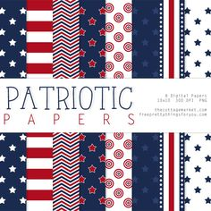 Free Patriotic paper pack Set 1