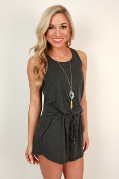 Twist Of Fate Romper in Charcoal