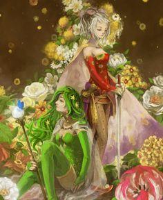 Rydia (FF IV) and Terra (FFVI)