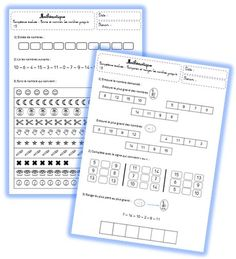 Evaluations de maths CP - Le petit cartable de Sanleane
