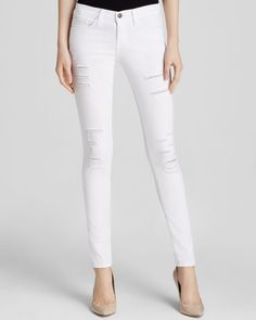 Flying Monkey Jeans - Distressed Skinny in White