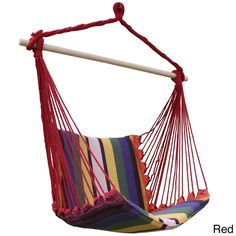 Adeco Fabric Canvas Hammock Chair Tree Hanging Suspended Outdoor Indoor, Patio Furniture