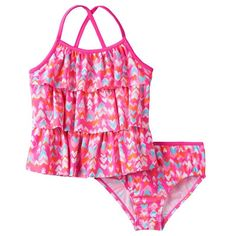 3b75a00227937 Girls 4-6x OshKosh B'gosh® Multi-Heart Print Tankini Top & Bottoms Swimsuit  Set