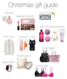 """""""Christmas gift guide"""" by osnapitzjacque ❤ liked on Polyvore featuring beauty, ULTA, Gallery, Valfré, Topshop, MAC Cosmetics, Henri Bendel, Victoria's Secret and Disney"""