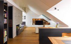 Wohnung E1 | Mayr & Glatzl Innenarchitektur GmbH Loft Flooring, Floors, Divider, Room, Furniture, Home Decor, Interior Designing, Projects, Homes