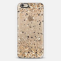 Gold Black White Party Confetti Explosion iPhone 6 case by Organic Saturation | Casetify