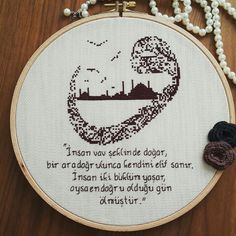 Vav # with # Istanbul # / # & # & # # wird in Form von # human # var # … & # & # Hand Embroidery Art, Cross Stitch Letters, Ribbon Art, Cross Stitching, Stitch Patterns, Bargello, Lettering, Sewing, Knitting