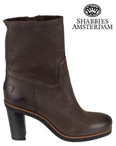 Shabbies Amsterdam   228097   Ankle boots   Dark brown   MONFRANCE Webshop