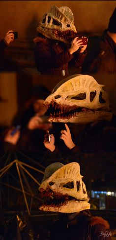 Dilophosaurus Skull Mask, 2016, carnival photos of me wearing the mask. More information on Behance. Made at the Media and Design Department, Visual Arts Institute, Eger, Hungary. #madeineger #mdteger #unieger #visualeger #madeinvmi #vizualismuveszetiintezet #eger #visualartsinstitute #hungary #graphicdesign #dilophosaurus #skull #mask
