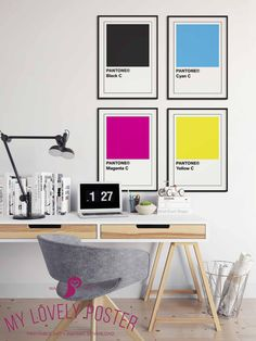 Items similar to Pantone Poster Pantone Black, Pantone Cmyk, Pantone Color, Grey Interior Doors, Office Interior Design, Office Wall Art, Office Decor, Office Ideas, Black Poster