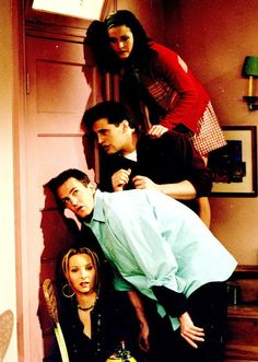 F R I E N D S: fav episode ever! Phoebe gets this crazy idea to eat leg wax, while they're hiding in their bedroom, because Ross and Rachel are fighting in the living room