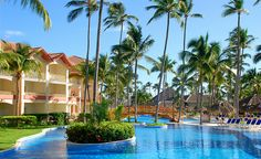 Swimming pool at Majestic Colonial resort in Punta Cana, Dominican Republic.