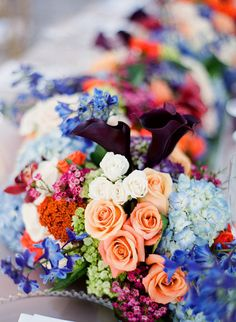 Brilliant Wedding Flowers | #Centerpiece | KT Merry Photography | See the wedding on #SMP Weddings:   http://www.stylemepretty.com/2012/06/29/miami-wedding-at-vizcaya-museum-gardens-by-kt-merry/