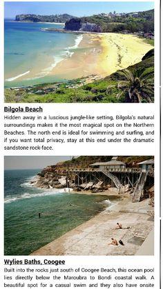 Bilgola beach and coogee baths in sydney