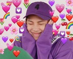 New Memes Kpop Corazones 16 Ideas Bts Meme Faces, Memes Funny Faces, Cartoon Memes, Bts Namjoon, Jimin, Taehyung, Bts Aegyo, Bts Emoji, Bts Cute