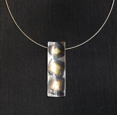 fine silver keum-boo necklace by zahour