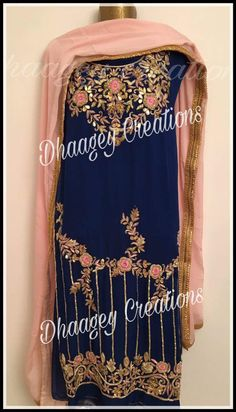 AARZOO KAUR✔ Embroidery Suits Punjabi, Embroidery Suits Design, Embroidery Dress, Hand Embroidery, Embroidery Designs, Punjabi Suits Designer Boutique, Indian Designer Suits, Punjabi Boutique, Boutique Suits