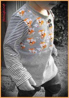 """Freebook """"Franknprinz""""für ein schönes Langarmshirt - beinhaltet auch eine Variation als Tunika (nähen)"""