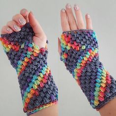 These gloves fit my freakishly small arms and hands perfectly but make sure you check the fit as you go - if you find the first few rows are too tight, try going up a hook size or two.