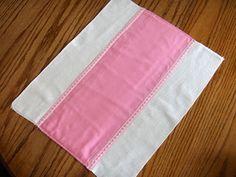 Burp cloths using diaper