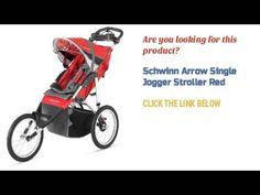 Check Out Schwinn Arrow Single Jogger Stroller Red