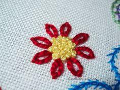 Detached Chain Stitch (Daisy Stitch)