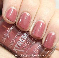 Sally Hansen Mauve Over Xtreme Wear Nail Color | Review & Swatches