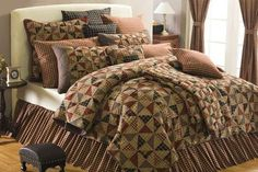 Country and Primitive Bedding, Quilts - Pinwheel Bedding - Country Decor, Primitive Decor, Bedding, Braided Rugs