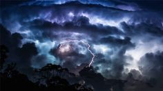 A Queensland photographer has filmed an impressive display of Mother Nature during a lengthy electrical storm.