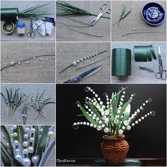 DIY Beautiful Beaded Lily of the Valley | iCreativeIdeas.com Follow Us on Facebook --> https://www.facebook.com/icreativeideas